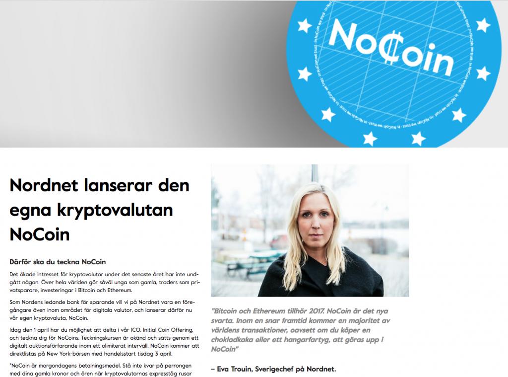 Nocoin Nordnet.