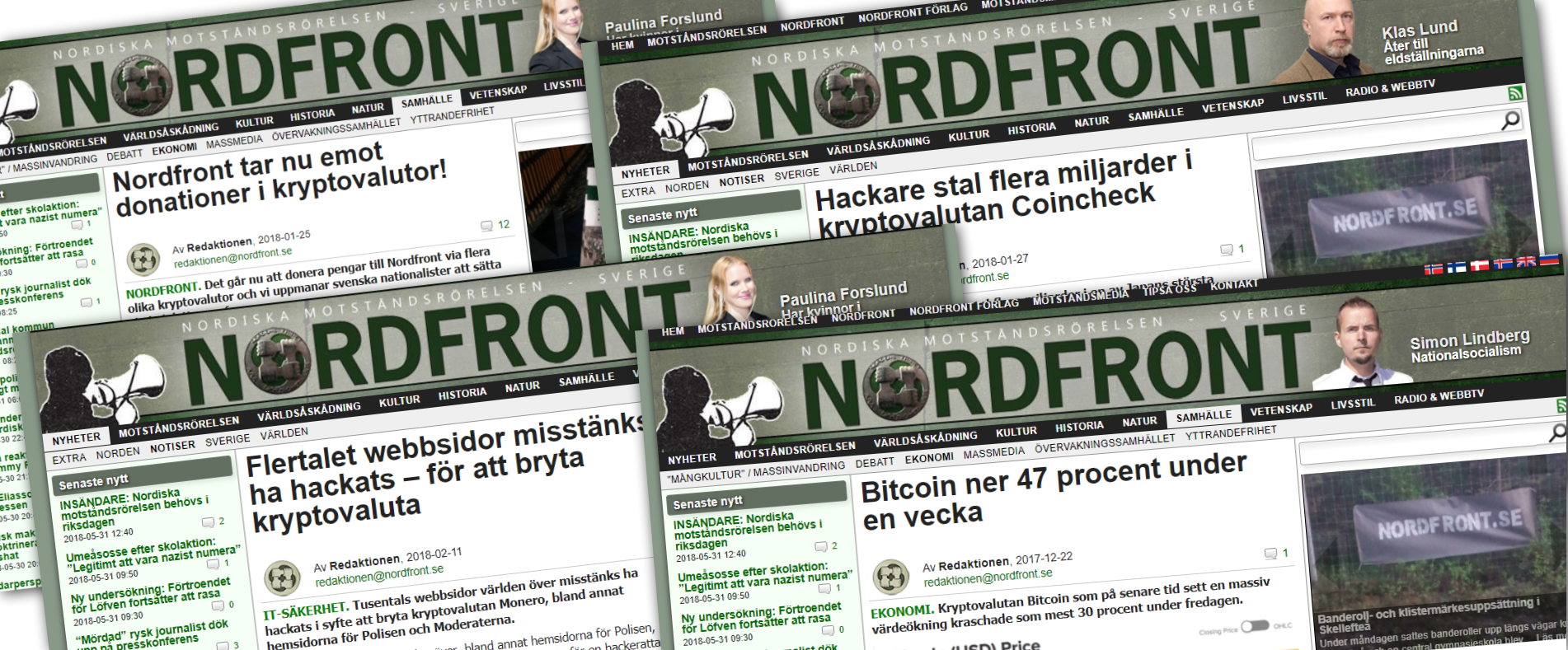 Nordic resistance movement donations experience head-wind.