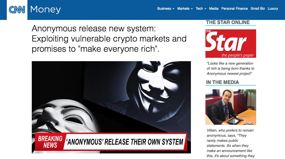CNN Money fake news article.