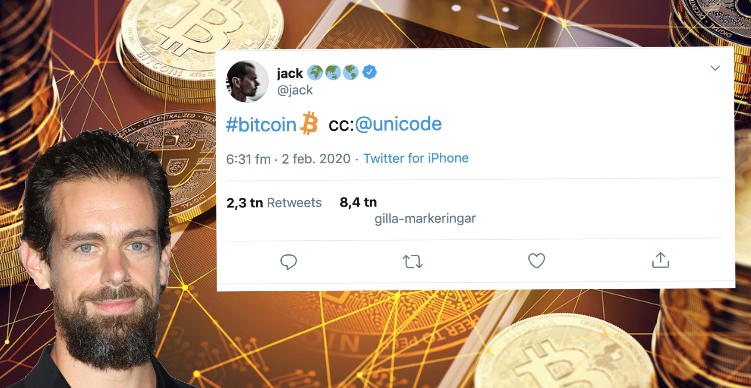Bitcoin alla twitter